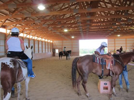 Dakota Stables horse camp, Minnesota