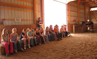 Dakota Stables riding horse camp